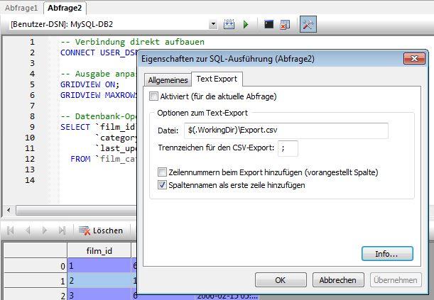 Konfigurationsdialog